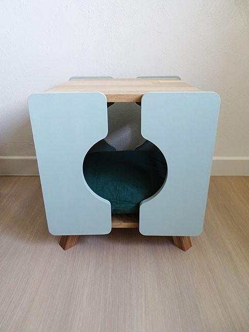 Cube vert pour chat